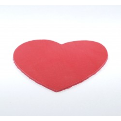 Coeur cuir rouge