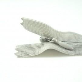 Fermeture à glissière invisible gris