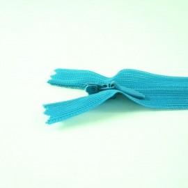 Fermeture à glissière invisible turquoise