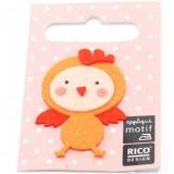 Motif thermocollant poule orange