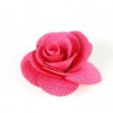Fleur tissu fushia