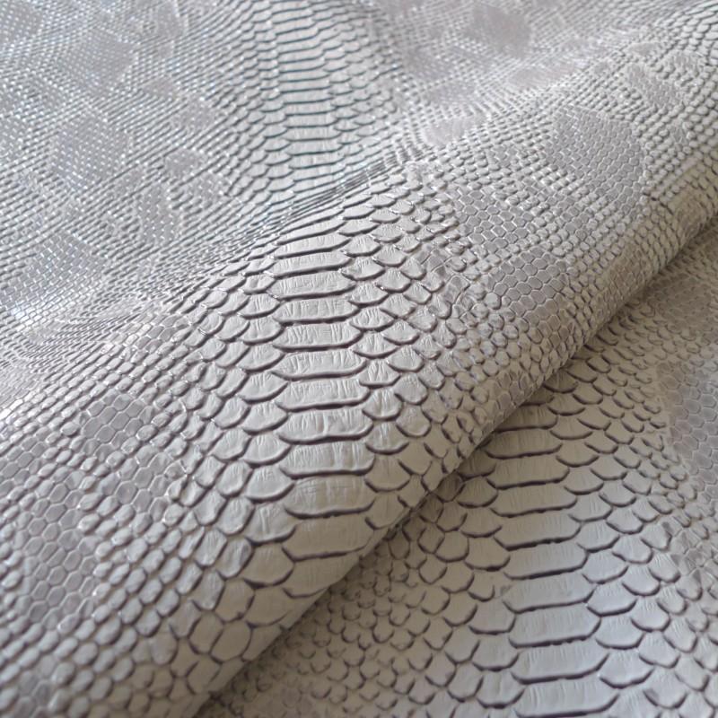 Simili cuir comodo gris tissus - Tissu simili cuir gris ...