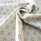Tissu saki or blanc