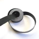 Lanière 20 mm lisse cuir noir