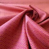 Tissu japonais seigaiha framboise