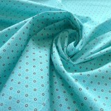 Tissu japonais Fuji turquoise