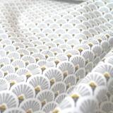 Tissu japonais Eventails gris