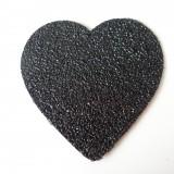 Coeur simili glitter noir