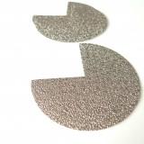 Coins de sacs simili glitter bronze