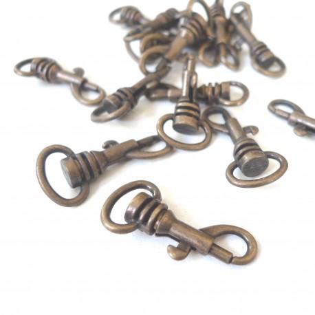 Mousqueton micro bronze
