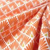 Tissu japonais Paon orange