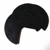 Coins de sacs simili cuir Galuchat noir