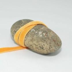 Ruban velours jaune 9 mm