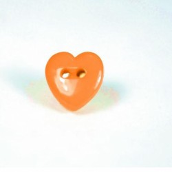 Lot boutons coeur orange