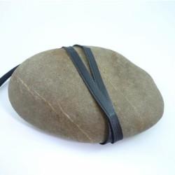 Passepoil mèche satin noir