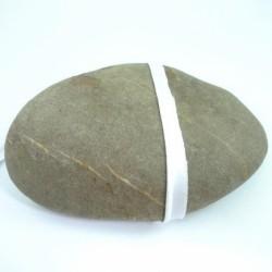 Passepoil mèche satin blanc