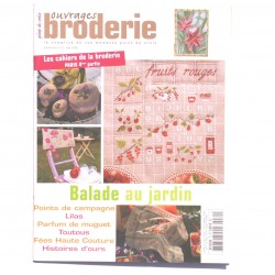 Magazine point de croix, ouvrages broderie n°70 mai  2006