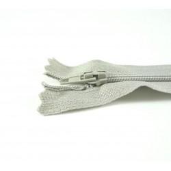 Fermeture à glissière classique gris perle