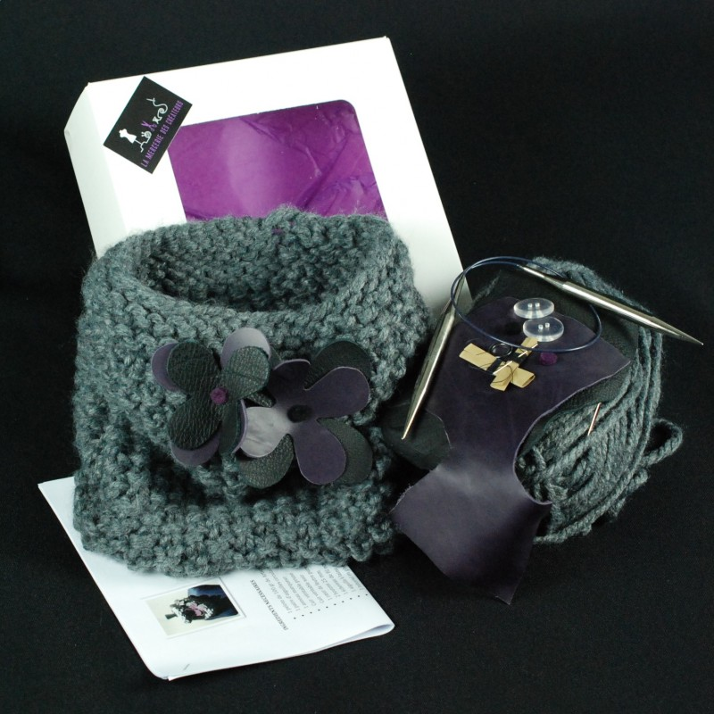 Kit à tricoter snood modulable - Kits couture exclusifs ae377a4c218