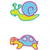 Planche dessin transfert escargot bleu
