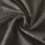 Tissu tweed marron