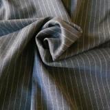 Tissu laine rayée grise