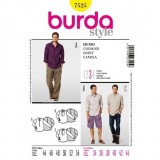 Patron chemise homme Burda 7525