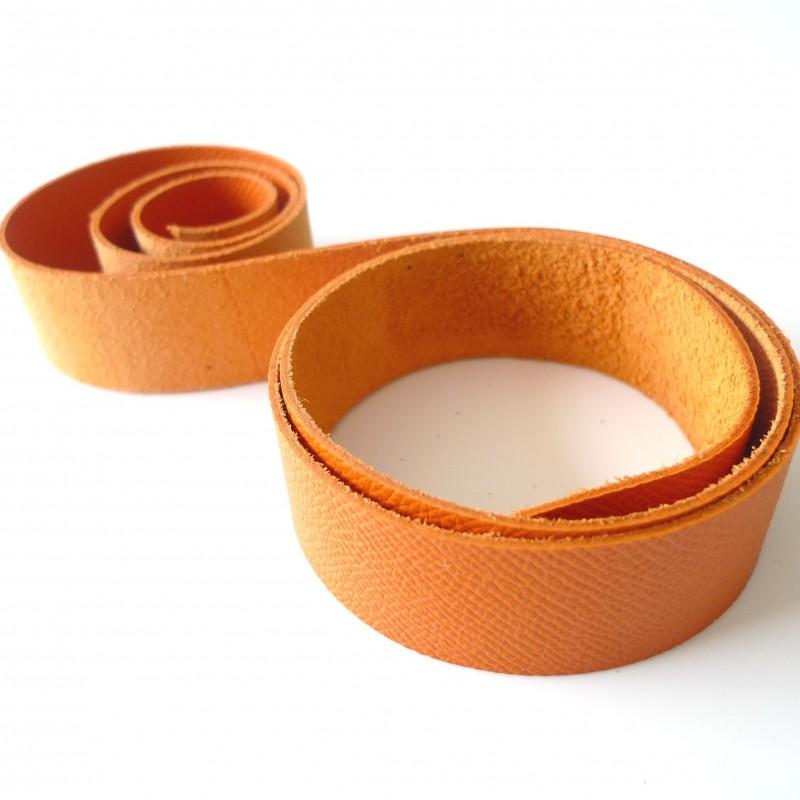 Lani re cuir orange cousez vos sacs - Laniere en cuir ...