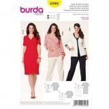 Patron veste T shirt robe Burda 6948
