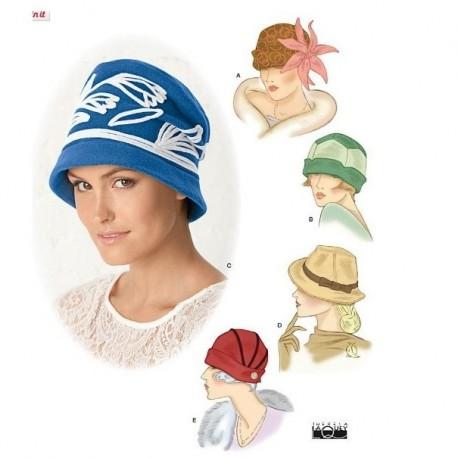 Patron chapeau Simplicity 7645 A - Patron de couture 71cdb6edaab