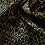 Tissu japonais vague noir