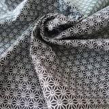 Tissu japonais Fuji noir