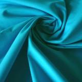 Tissu coton turquoise