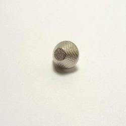 Bouton métal argent conique