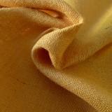 Toile de jute jaune or