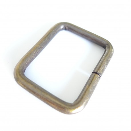Boucle rectangle bronze design