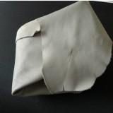 Chute cuir gris perle