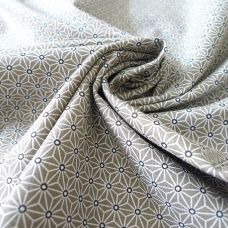 Tissu japonais Fuji taupe