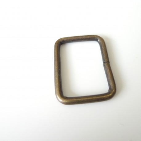Boucle rectangle 25 bronze