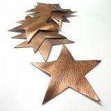 Etoile cuir bronze