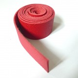 Lanière cuir rouge