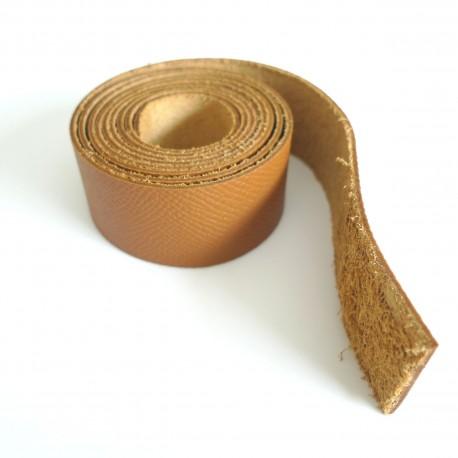 Lanière cuir camel