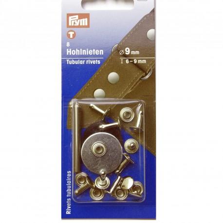 Rivets 9 mm grande épaisseur nickel