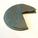 Coins de sacs cuir vert métal