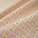 Tissu japonais Paon rose