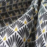 Tissu japonais Paon noir
