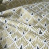 Tissu japonais Paon Or