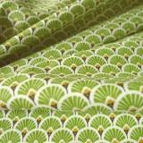 Tissu japonais Eventails vert