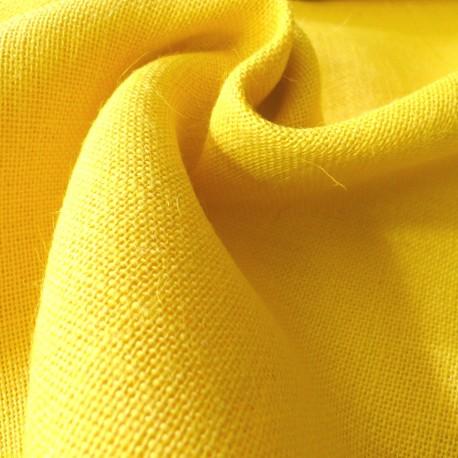 toile de jute jaune vif tissus. Black Bedroom Furniture Sets. Home Design Ideas