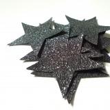 Etoile simili glitter noir